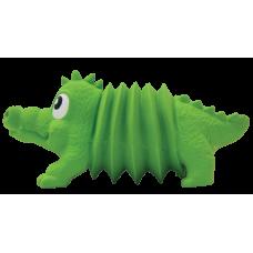 """OH игрушка для собак Accordionz """"Крокодил"""" латекс с пищалкой, 15 см"""