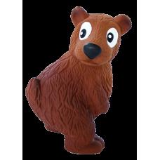 """OH игрушка для собак Tootiez """"Медведь"""" латекс с пищалкой, 22 см"""