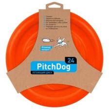 PitchDog летающий диск d 24 см, оранжевый