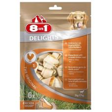 8in1 DELIGHTS S косточки с куриным мясом для мелких и средних собак 6х11 см (пакет)