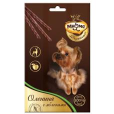 Купить Мнямс Деликатес лакомые палочки 13,5 см для собак с олениной и яблоком 3х11 г
