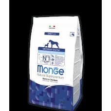 Monge Dog Medium Starter for Mother and baby сухой корм для щенков средних пород (с 3-х недель), беременных и кормящих собак с курицей