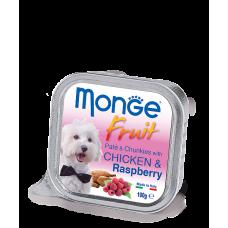 Monge Dog Fruit with Chicken & Raspberry нежный паштет из курицы с малиной