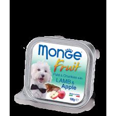 Monge Dog Fruit with Lamb & Apple нежный паштет из ягненка с яблоком
