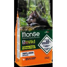 Купить Monge Dog BWild GRAIN FREE беззерновой корм из мяса утки с картофелем для щенков всех пород