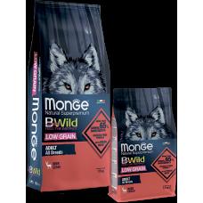Купить Monge BWild Adult All Breeds Deer низкозерновой корм из мяса оленя для взрослых собак всех пород