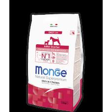Monge Dog Mini Starter for Mother and Baby Dogs сухой корм для щенков мелких пород (с 2-х недель), беременных и кормящих собак с курицей
