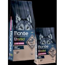 Купить Monge BWild Adult All Breeds Goose низкозерновой корм из мяса гуся для взрослых собак всех пород