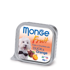 Monge Dog Fruit with Duck & Orange нежный паштет из утки с апельсином