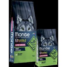 Купить Monge BWild Adult All Breeds Wild boar сухой корм для взрослых собак всех пород с мясом дикого кабана