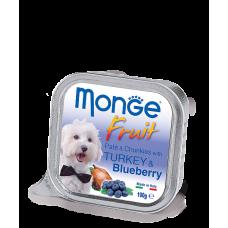 Monge Dog Fruit with Turkey & Blueberry нежный паштет из индейки с черникой