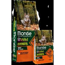 Купить Monge Dog BWild GRAIN FREE беззерновой корм из мяса утки с картофелем для взрослых собак всех пород