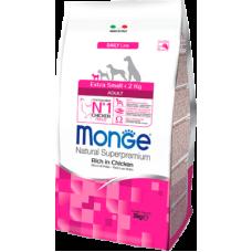 Monge Daily Line Extra Small Adult Rich in Checken сухой корм для взрослых собак миниатюрных пород с курицей