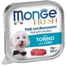 Monge Dog Fresh con Tonno нежный паштет из тунца влажный корм для собак всех пород
