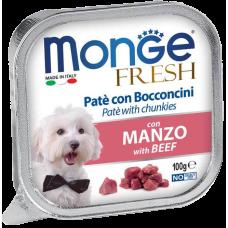 Купить Monge Dog Fresh con Manzo нежный паштет из говядины влажный корм для собак всех пород