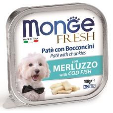 Купить Monge Dog Fresh консервы для собак треска 100г