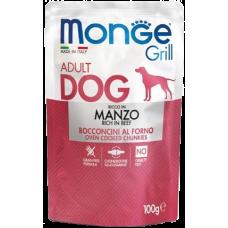Купить Monge Dog Grill Pouch паучи для собак говядина 100г