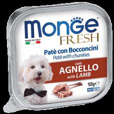 Купить Monge Dog Fresh con Agnello нежный паштет из ягненка влажный корм для собак всех пород