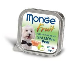 Купить Monge Dog Fruit консервы для собак лосось с грушей 100г