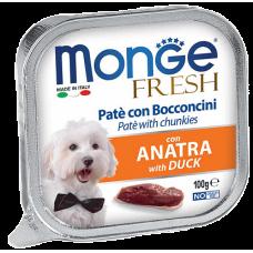 Купить Monge Dog Fresh con Anatra нежный паштет из утки влажный корм для собак всех пород