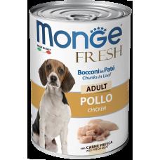 Monge Dog Fresh Chunks in Loaf консервы для собак мясной рулет курица