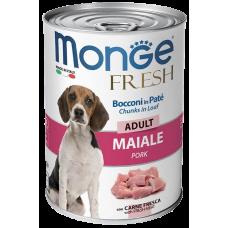 Monge Dog Fresh Chunks in Loaf консервы для собак мясной рулет свинина