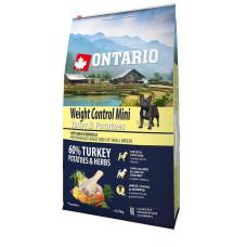 Ontario Dog Adult Mini полноценный сухой корм с индейкой и картофелем для собак малых пород контроль веса