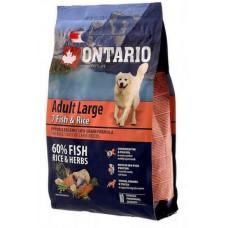 Ontario Dog Adult Large полнорационный сухой корм с 7 видами рыбы и рисом для собак крупных пород