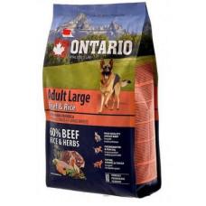 Ontario Dog Adult Large полнорационный сухой корм с говядиной и рисом для собак крупных пород