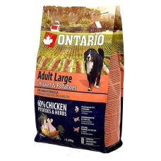 Ontario Dog Adult Large полноценный сухой корм с курицей и картофелем для собак крупных пород