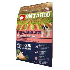 Ontario Puppy & Junior Large полнорационный сухой корм с курицей и картофелем для щенков крупных пород