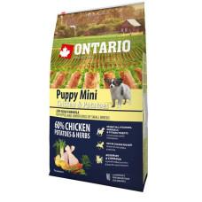 Ontario Puppy Mini полнорационный сухой корм с курицей и картофелем для щенков малых пород