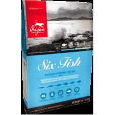 Orijen 6 Fish беззерновой корм с рыбой для собак всех пород и возрастов СКИДКА 6% ОТ УКАЗАННОЙ ЦЕНЫ