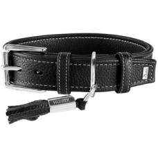 Hunter ошейник для собак Cannes 45 (29-37 см)/2,8 см натуральная кожа черный