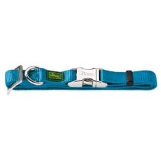 Hunter ошейник для собак ALU-Strong L (45-65 см) нейлон с металлической застежкой цвета: бирюзовый, бордо, красный, оранжевый,темно-синий, черный