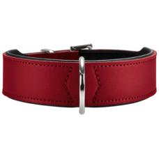 Hunter ошейник для собак Basic 55 (41-49 см) /3,9 кожа красный/черный