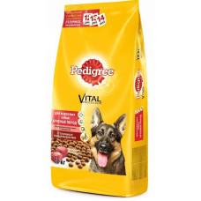 Pedigree сухой корм для взрослых собак крупных пород с говядиной