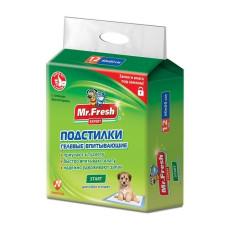 Mr.Fresh Start 60*60 см ( 12шт ) пеленки для приучения к месту