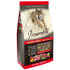 Primordial Grain Free Adult Mini Wild Board Lamb беззерновой сухой корм класса холистик для взрослых собак мелких пород с кабаном и ягнёнком
