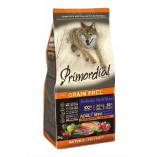 Primordial Grain Free Adult Mini Duck Trout беззерновой сухой корм класса холистик для взрослых собак мелких пород с форелью и уткой