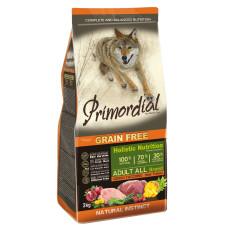 Купить Primordial Grain Free Adult All Breed Deer Turkey беззерновой сухой корм класса холистик для взрослых собак всех пород с олениной и индейкой