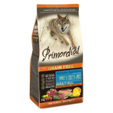 Купить Primordial Grain Free Adult All Breed Duck Trout беззерновой сухой корм класса холистик для взрослых собак всех пород с форелью и уткой