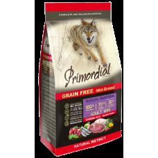 Primordial Grain Free Adult Mini Sardine Goose беззерновой сухой корм класса холистик для взрослых собак мелких пород с сардиной и гусём