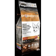 Купить Probalance Adult Beef Immuno for Dogs сухой корм для взрослых собак всех пород с говядиной