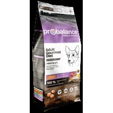 Купить ProBalance Gourmet Diet Adult Beef & Rabbit сухой корм для взрослых собак всех пород с говядиной и кроликом