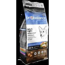 ProBalance Adult Light сухой корм для взрослых собак с низкой и нормальной активностью
