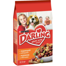 Купить Darling сухой корм для взрослых собак курица и овощи