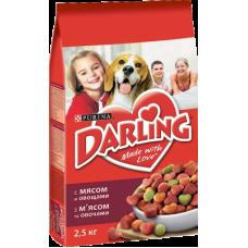 Купить Darling сухой корм для взрослых собак мясо и овощи