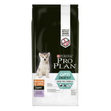 Купить Pro Plan Grain Free Puppy Medium&Large Sensitive Digestion беззерновой корм для щенков средних и крупных пород с чувствительным пищеварением, с высоким содержанием индейки