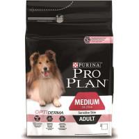 Pro Plan Medium Adult Sensitive Skin с лососем для собак с чувствительной кожей